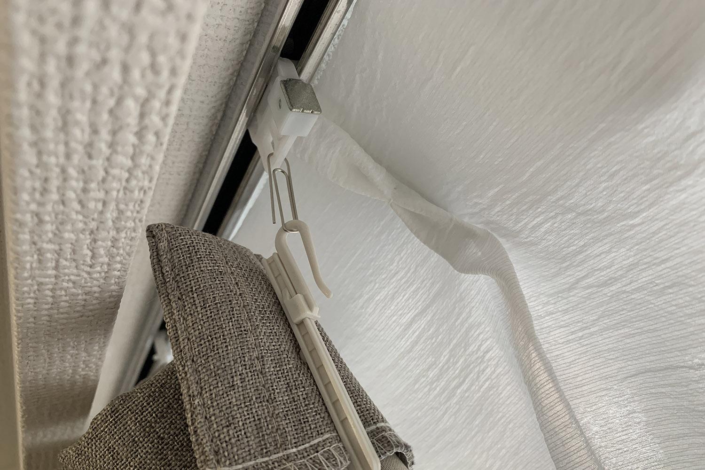 100均クリップで丈の合わないカーテンを再活用。引越し前のカーテンを捨てない使い方