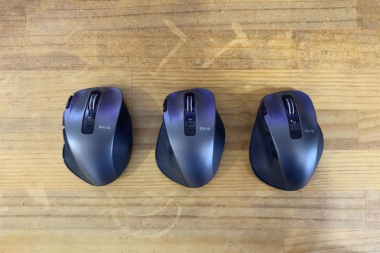 """3台持ちが楽。会社、自宅、持ち運びに「""""EX-G""""Ultimate Laserマウス」"""