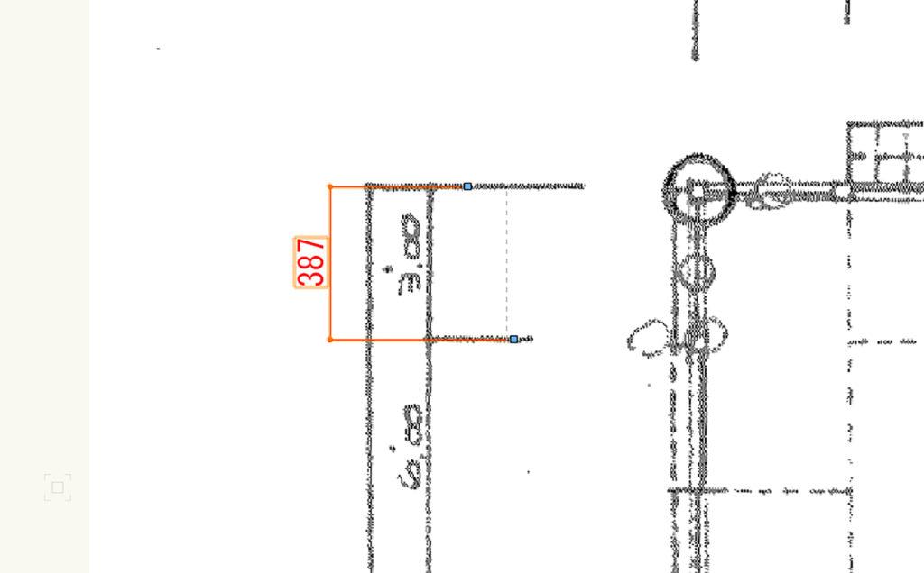 Vectorworksで古い手書き図面を取り込んで、縮尺を合わせる方法。青焼き図面のトレース用に。