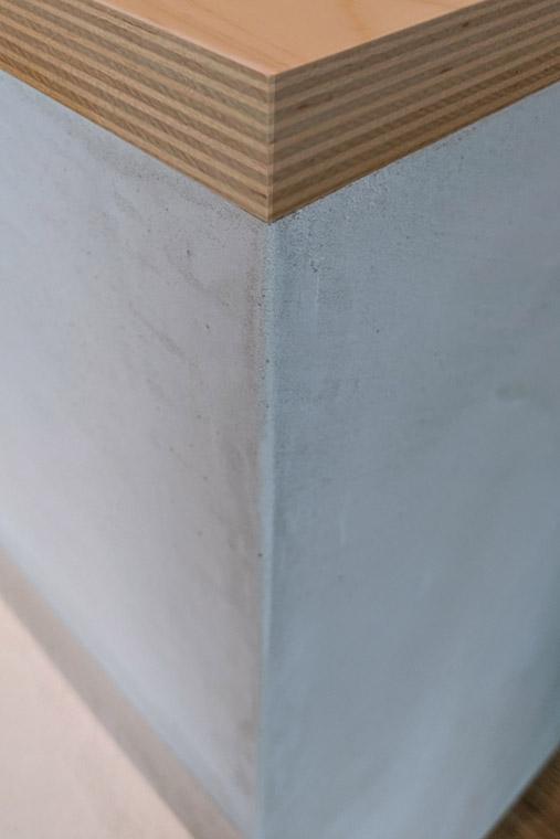 家具設計でモールテックスの納まりを考えてみました
