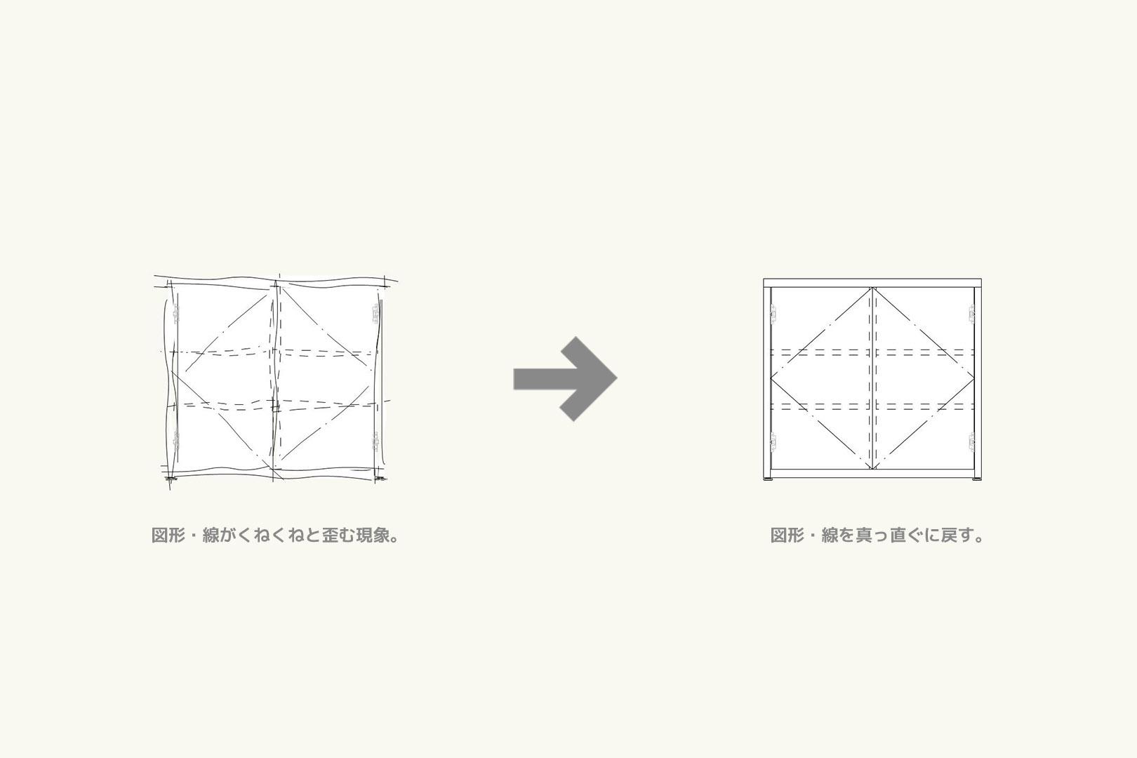 Vectorworksの図形や線が突然、くねくねと歪む現象を直す方法