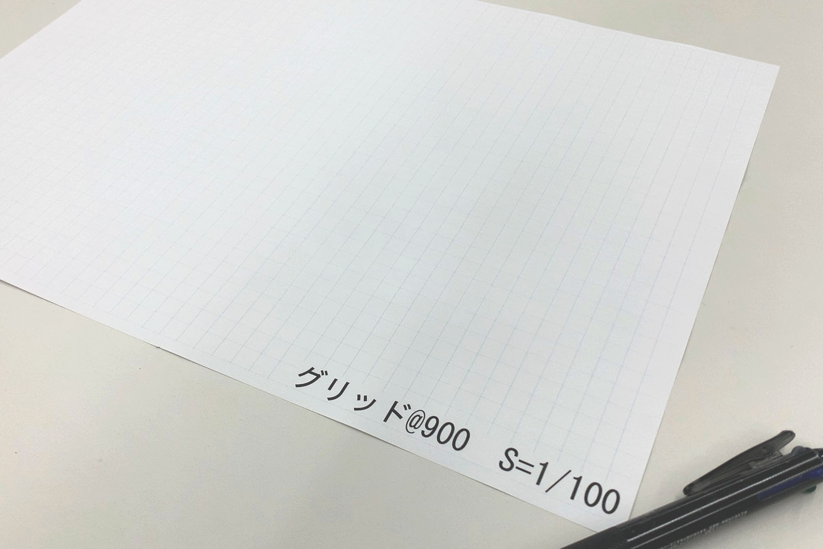 Vectorworksで水色のグリッド線を印刷で表示する方法