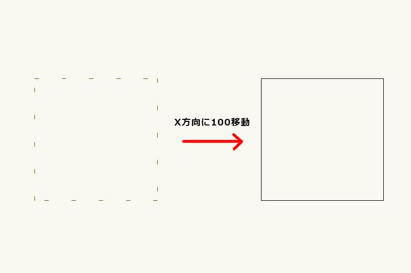 Vectorworksで図や線を数値入力で移動する「移動」の使い方