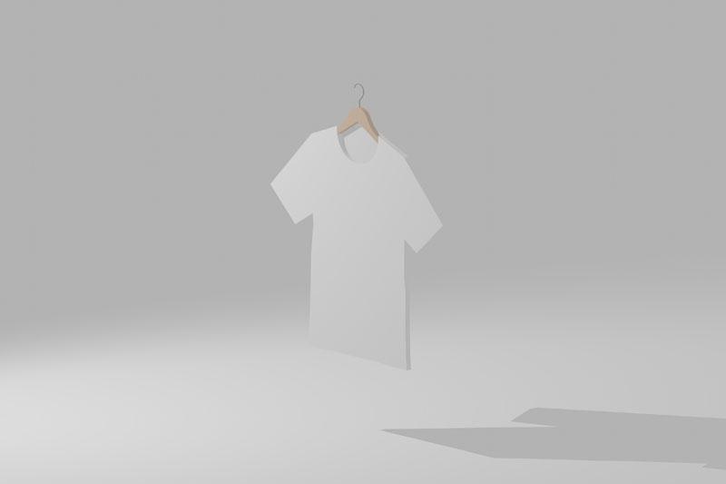Vectorworks 3Dフリー素材「ハンガー付きTシャツ」を作りました