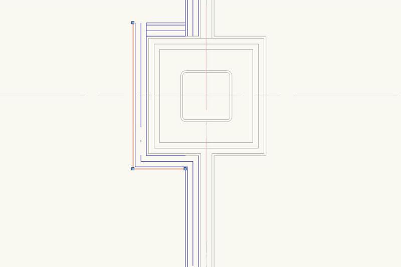 Vectorworksで「直線ツール」と「オフセットツール」を使って内装壁を描く