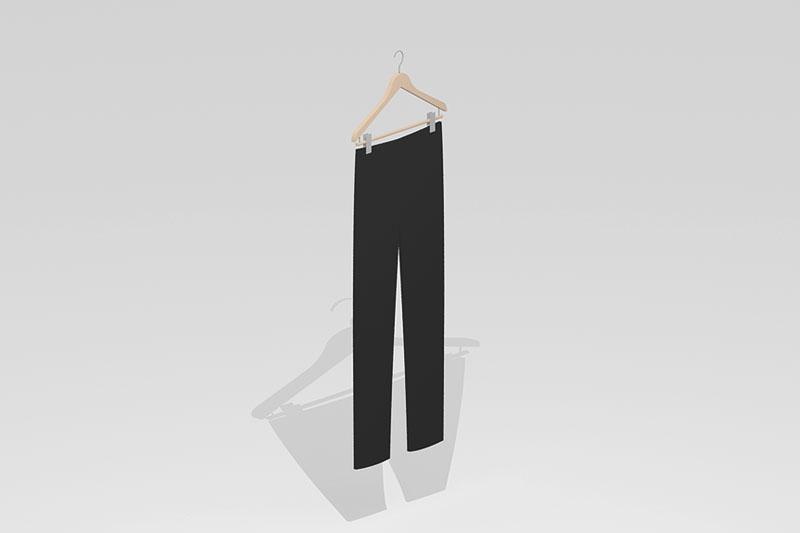 Vectorworks 3Dフリー素材「ハンガー付きズボン」を作りました