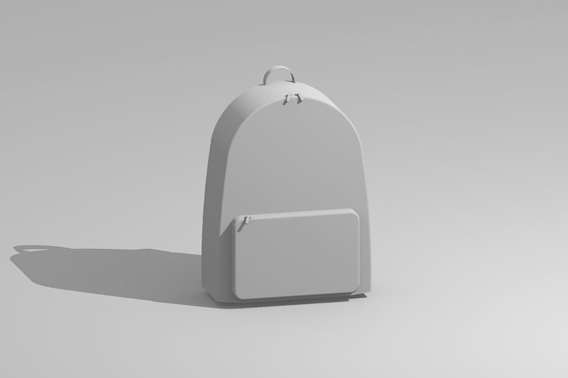 Vectorworks 3Dフリー素材「リュック」を作りました