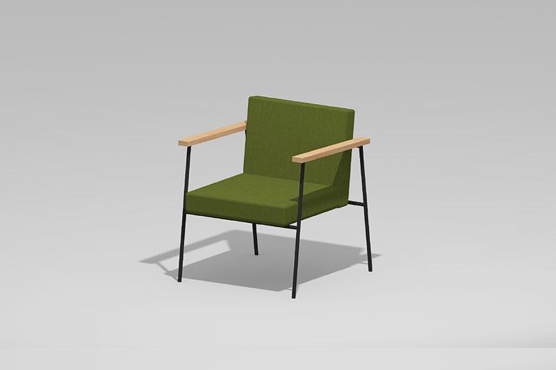 Vectorworks 3Dフリー素材「カフェチェア-02」を作りました