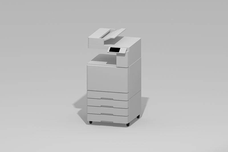 Vectorworks 3Dフリー素材「複合機」を作りました