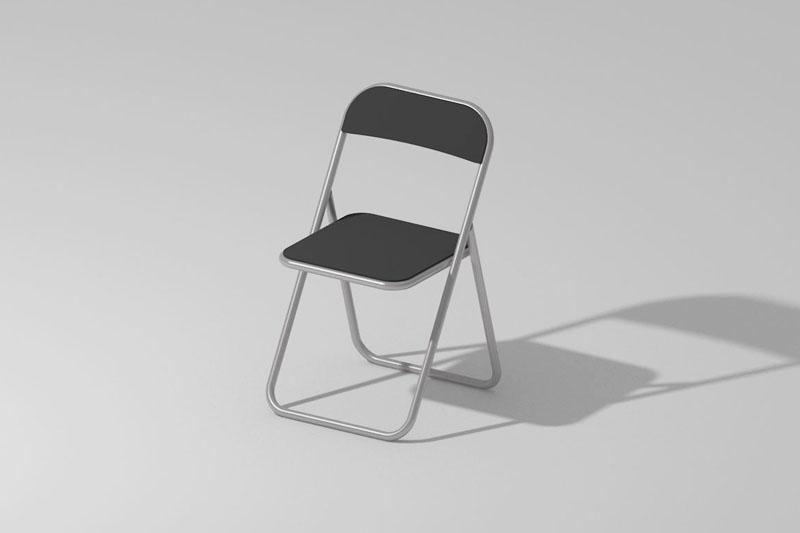 Vectorworks 3Dフリー素材「折りたたみパイプ椅子」を作りました
