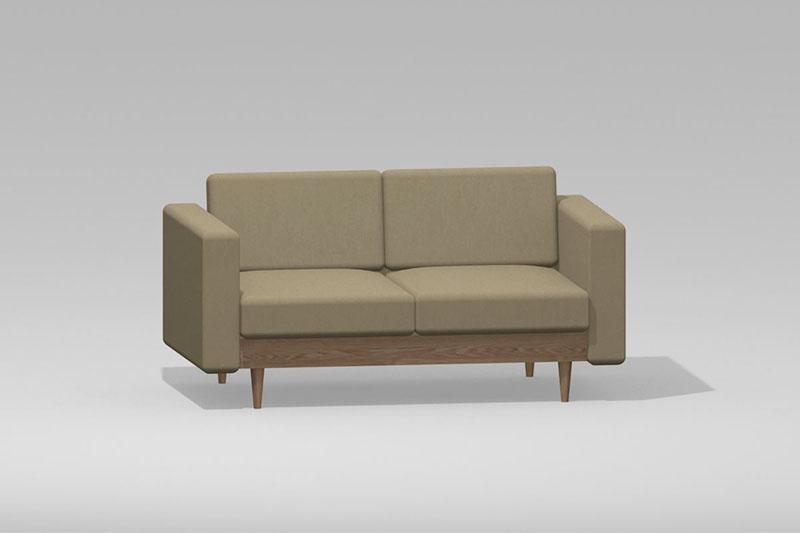Vectorworks 3Dフリー素材「2人掛けソファ」を作りました