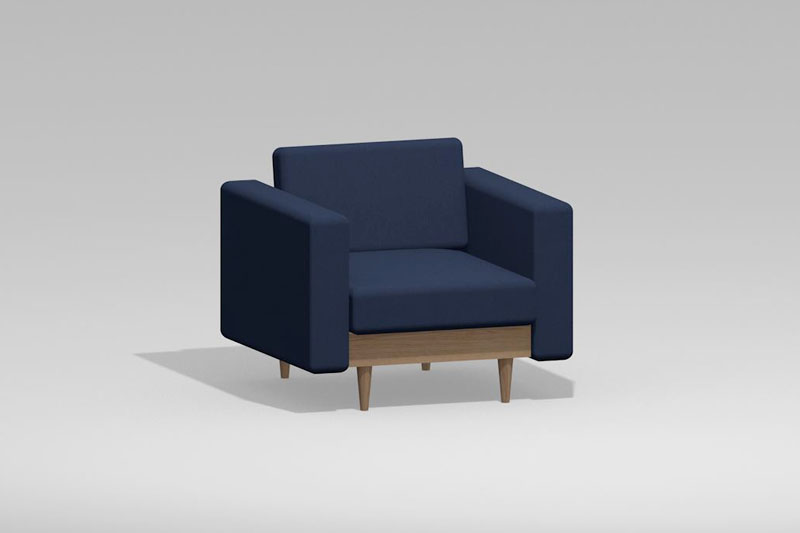 Vectorworks 3Dフリー素材「1人掛けソファ」を作りました