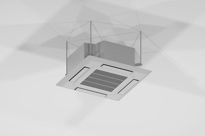 Vectorworks 3Dフリー素材「天井カセット形室内機」を作りました