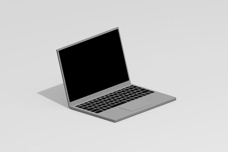 Vectorworks 3Dフリー素材「ノートパソコン」を作りました