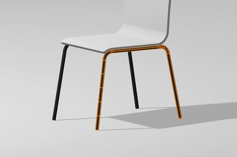 Vectorworks「3Dパス図形」を使って椅子の丸棒脚を作る方法